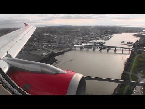 Welcome To Vancouver!!!  Smooth HD Airbus A319 Landing In Vancouver Canada On Air Canada Rouge!!!