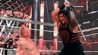 Roman Reigns vs  Brock Lesnar  Steel Cage Match Full Match width=