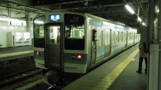 篠ノ井線211系 長野駅到着 JR-East Shinonoi Line 211 series EMU