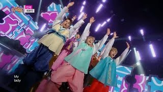 【TVPP】Seventeen - 'ManSae' HanBok Ver., 세븐틴 - '만세' 한복 버전 @ Show Music core Live