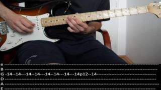 RHCP - Goodbye Angels (lesson w/ tabs)