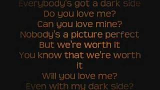 Kelly Clarkson - Dark Side Lyrics On Screen