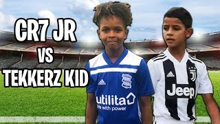 Cristiano Ronaldo Jr vs Tekkerz kid *Freekicks Skills Goals