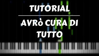 TUTORIAL PIANO - Avrò cura di tutto - Alessandra Amoroso