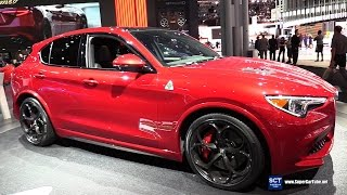 2018 Alfa Romeo Stelvio Quadrifoglio - Exterior Interior Walkaround - Debut 2017 New York Auto Show