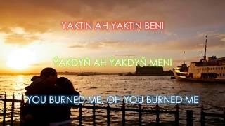 Fikrimin ince gülü - Turkish Song with English Subtitles, Türkmençe sözleri, Türkçe altyazili