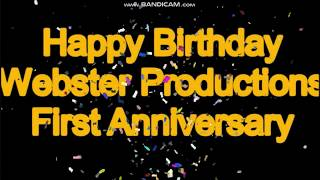 Happy Birthday Webster Productions!!!