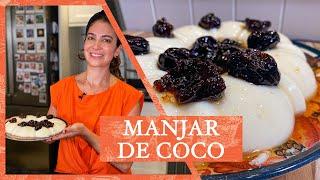 MANJAR DE COCO CREMOSO COM CALDA DE AMEIXA | LU ZAIDAN