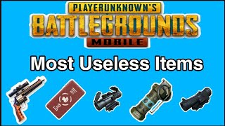 10 most Useless Items in PUBG Mobile