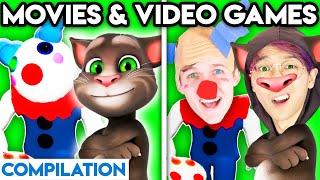 MOVIES & VIDEO GAMES WITH ZERO BUDGET! (Piggy, Talking Tom, Paw Patrol, Disney, Minecraft, Godzilla)