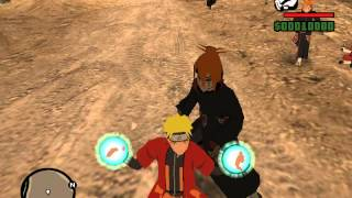 Gta San Andreas Naruto VS Pain and new rasenshuriken by chetah96