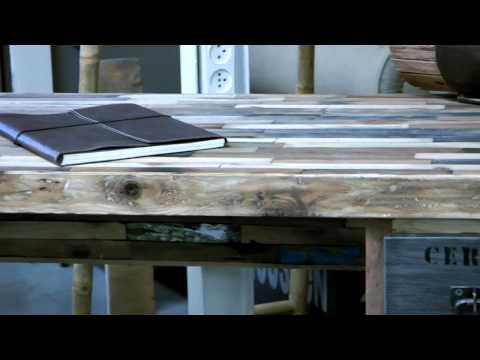 סרטון: שימוש בעץ ממוחזר לריהוט לבית