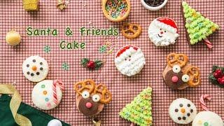 Santa & Friends Cake  สูตรอาหาร วิธีทำ แม่บ้าน