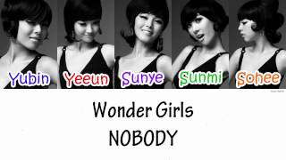 Wonder Girls - NOBODY Lyrics [HAN|ROM|ENG]