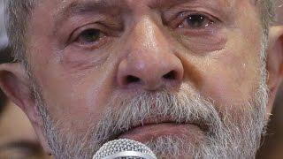 chora em ato do PT e diz que se entrega a pé se provarem corrupção veja video
