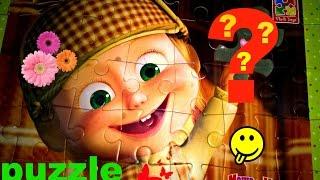 Собираем пазлы Маша и Медведь. видео для детей. Funny videos for kids.