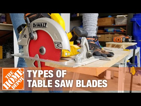 A video helps you choose the best table saw blade.