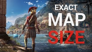 Assassin's creed Odyssey EXACT Map size Revealed