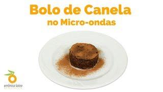 Receita: BOLO de CANELA no MICRO-ONDAS (feito sem ovo)