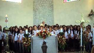 """1ª Eucaristia 2012 - Homenagem - Música """"O milagre desta comunhão"""""""