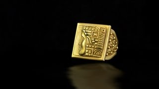 Barry Kieselstein-Cord 18k Paraoh Solid Gold Egyptian Style Ring