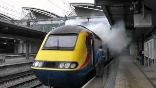 VP185 HST Cold Start Mega Clag in Leeds Station