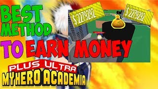 BEST METHOD TO EARN MONEY TO CHANGE QUIRK (FOR BEGINNER)  | PLUS ULTRA MY HERO ACADEMIA ROBLOX