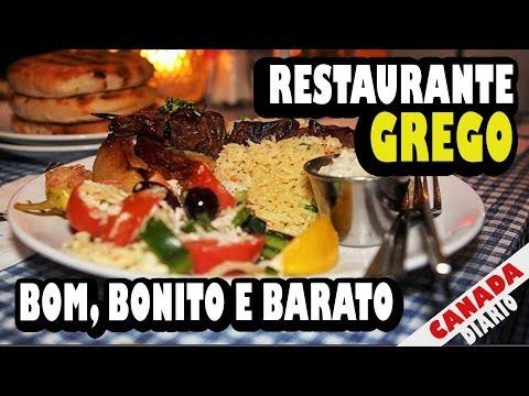 Provando o Restaurante Grego mais Tradicional de Vancouver - Dica de Comida Boa, Bonita e Barata