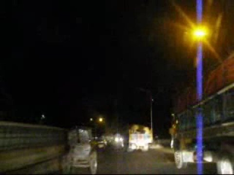 Midnight drive in Dhaka