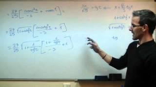 Imagen en miniatura para Integral trigonométrica con cambio de variable tangente 02