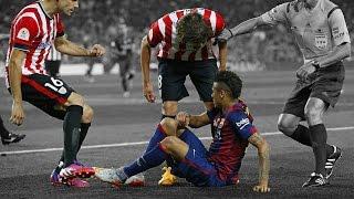 Neymar aplica lambreta, jogadores do Bilbao se irritam width=