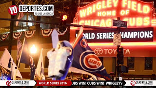 Wrigleyville Party Chicago Cubs Win World Series 2016