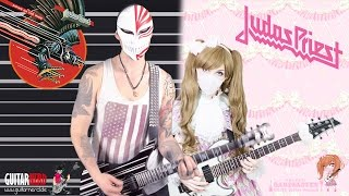 【Judas Priest】 - 「Riding On the Wind」 GUITAR COVER ♡ BabySaster & DeSade Kucharzak