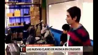 """Noticia canal 13 """"Las nuevas clases de música en los colegios"""""""