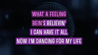 Flashdance... What A Feeling Karaoke Version by Irene Cara (Video with Lyrics)
