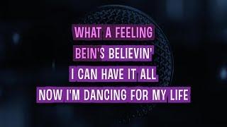 Flashdance... What A Feeling Karaoke Version by Irene Cara (Video with Lyrics)
