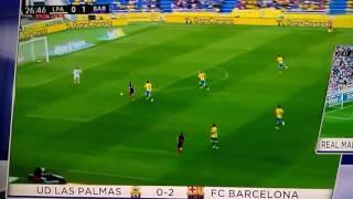 Luis Suarez Gol Barcelona vs Las Palmas 2-0 4/14/17