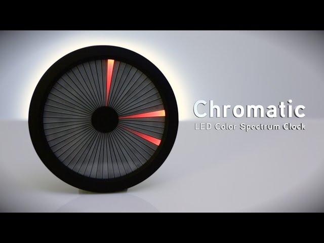 Chromatic: led color spectrum clock thinkgeek