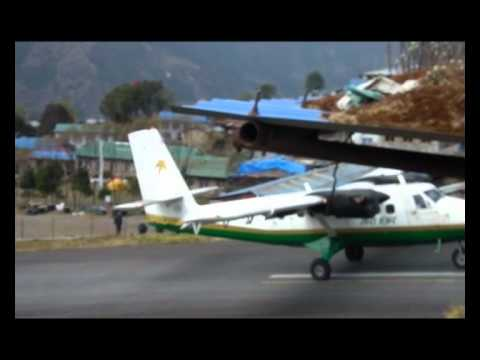 Lukla landing and takeoff Nov 2010