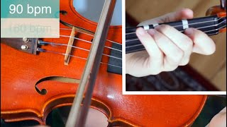 How to play He's a Pirate  | Easy Beginner Version | Violin Tutorial with PLAYALONG
