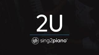 2U [Piano Karaoke Instrumental] David Guetta & Justin Bieber