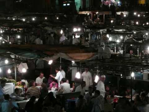 Djemaa el Fna, Marrakech, Morocco by night