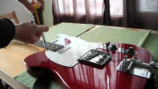 Changing / replacing pickguard on Fender Telecaster (pick guard, Squier, Squire)