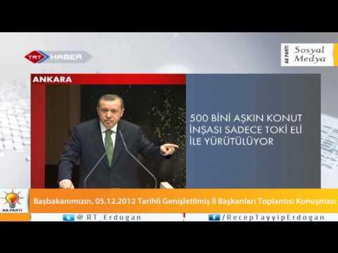 Başbakanımızın, 05.12.2012 Tarihli Genişletilmiş İl Başkanları Toplantısı Konuşması