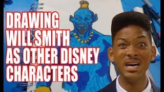 Drawing Will Smith As Other Disney Characters