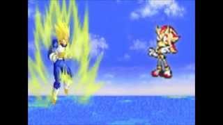 DEATH BATTLE!  Vegeta VS Shadow fight