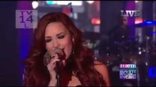 Demi Lovato - Give Your Heart A Break on MTV In NYC 2012.