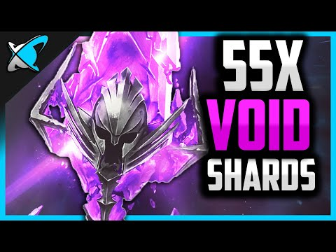 55X VOID SHARDS !!... How Many COLDHEART lol !? | 2x Void Event ! | RAID: Shadow Legends