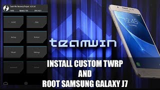 How to install twrp on samsung j7 videos / InfiniTube