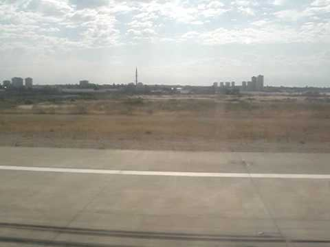 Taking off from Antalya airport by Donbassaero A320